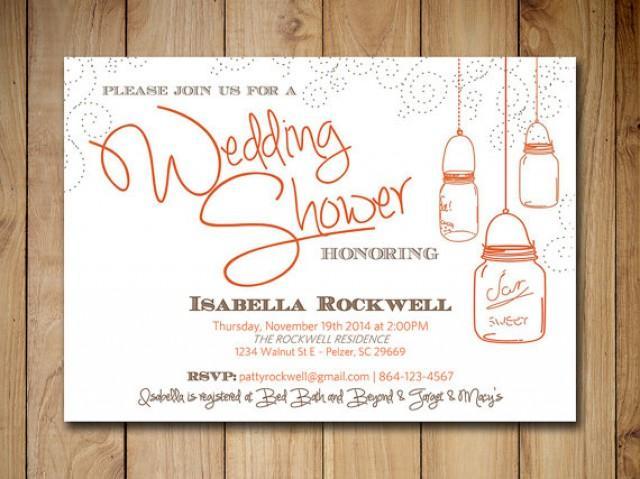 Mason Jar Wedding Shower Invitation Bridal Shower Word Template – Bridal Shower Invitation Templates for Word