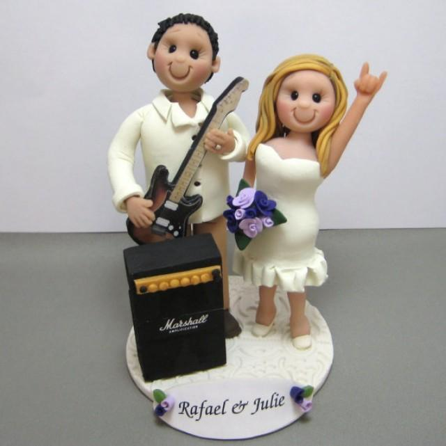 DEPOSIT For Custom Made Polymer Clay Wedding Cake Topper Music Guitar Amp Theme 2299423