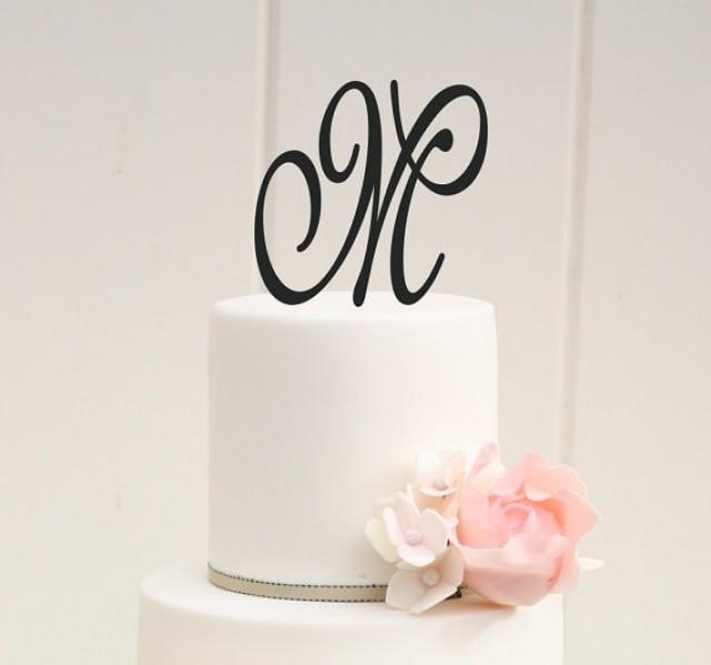 Cake Toppers Letters : Personalized Monogram Wedding Cake Topper - 5 Inch ...