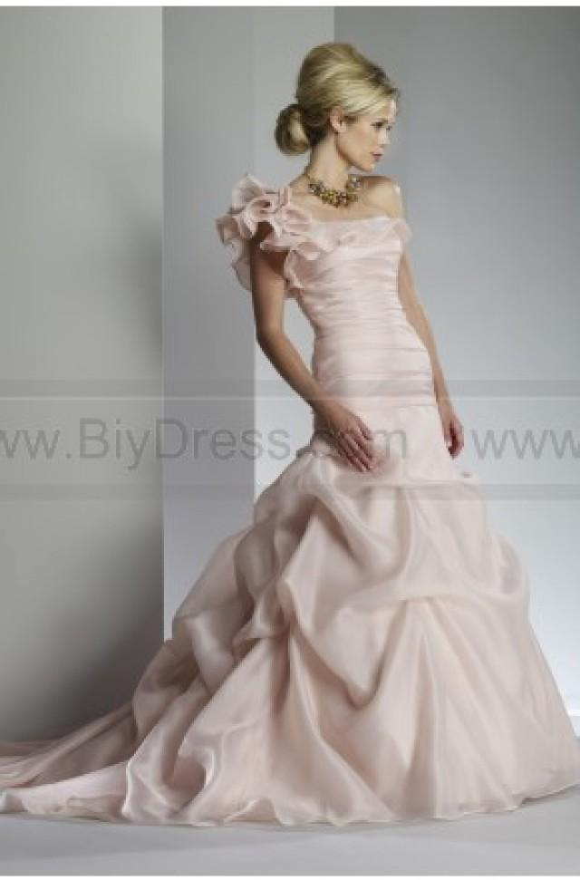One shoulder ruffles ruched pick up wedding gown 2300598 for Pick up wedding dress