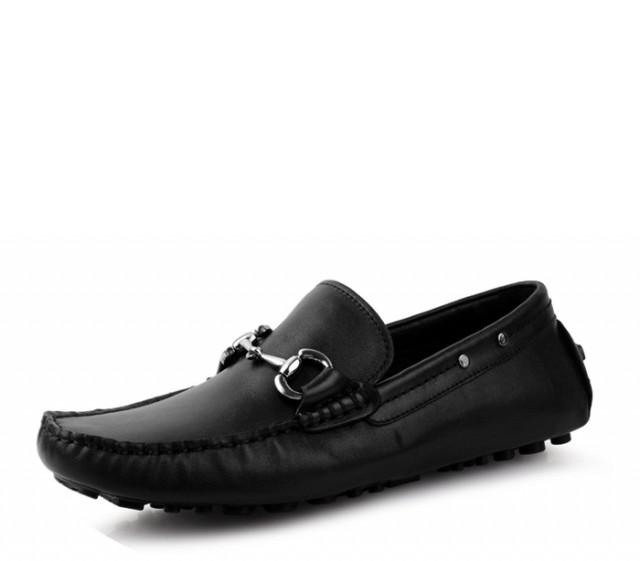 wedding photo - Branded Horsebit Leather Shoes