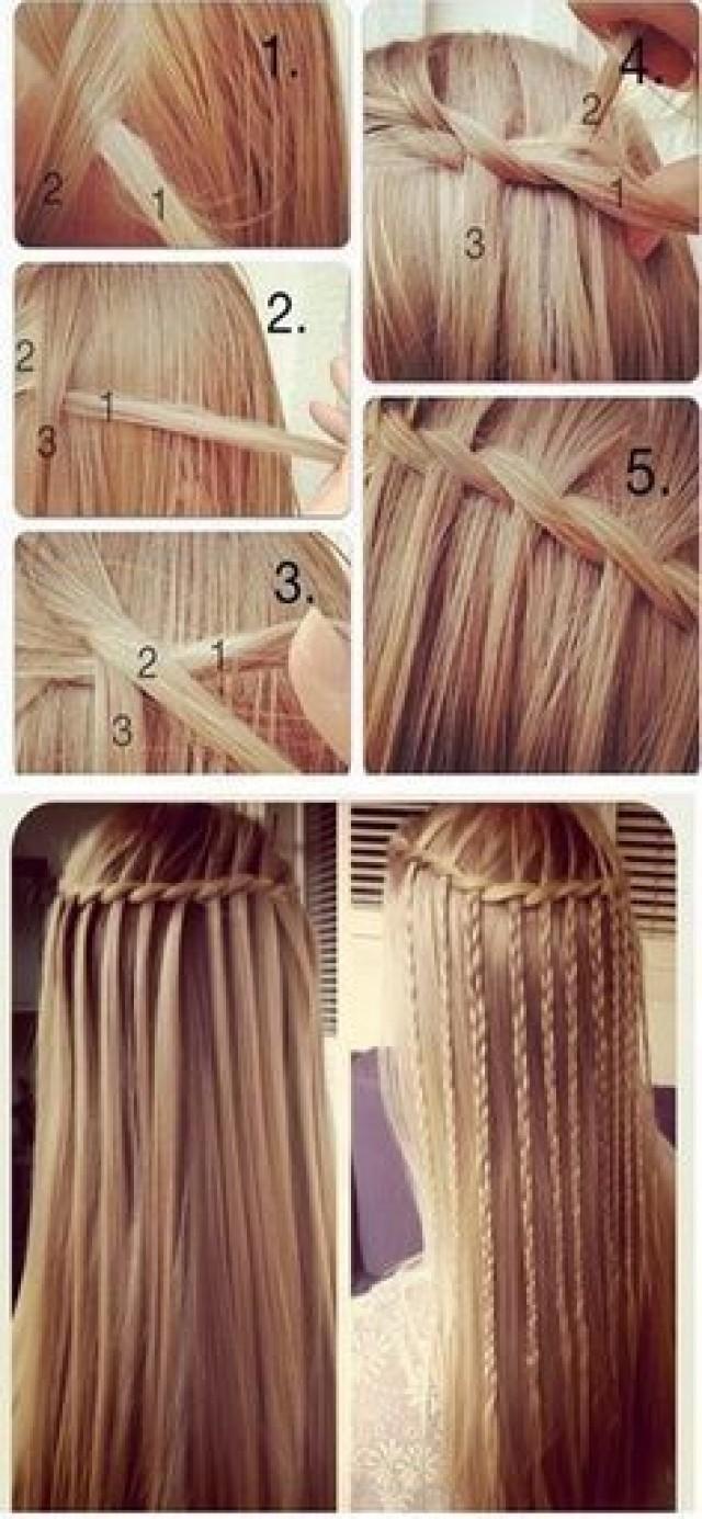 Причёска для распущенных волос своими руками