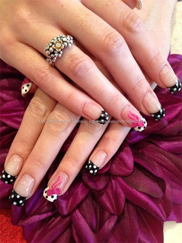 Nails Designs 2014 With Bows 15 Polka Dot Bow Nail ...