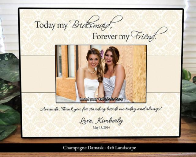 Gift Ideas For Bride And Groom From Maid Of Honor : Bridesmaid Frame, Maid Of Honor Frame, Personalized Gifts, Custom ...
