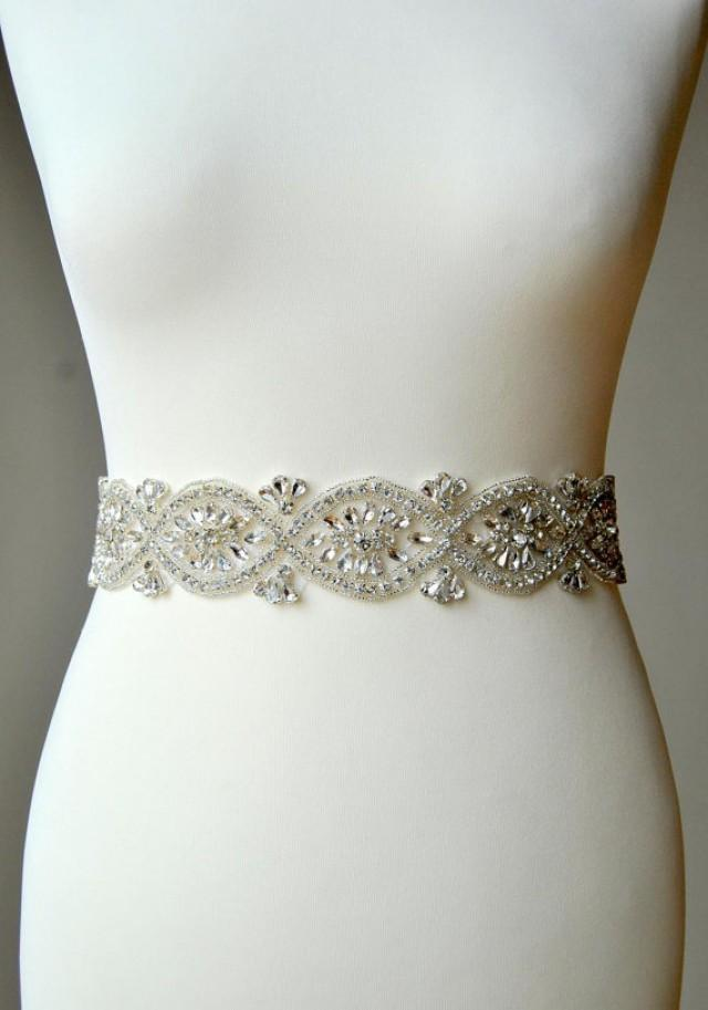Bridal crystal luxury sash wedding dress sash belt for Sparkly belt for wedding dress