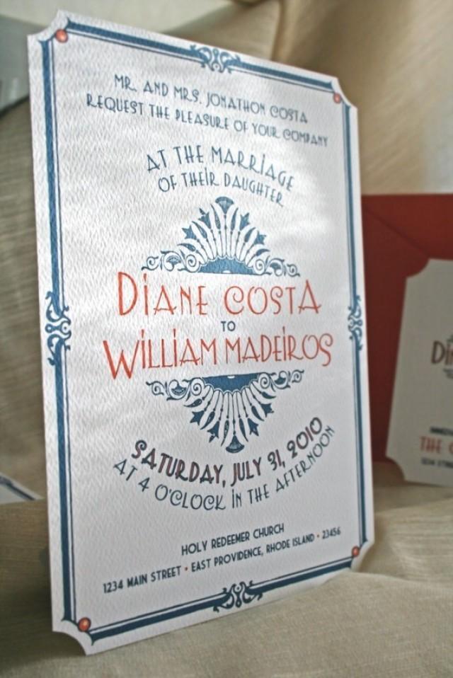Reserved for katy art deco vintage glam wedding for Digital wedding invitations