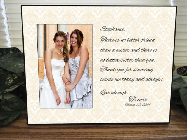 Gifts For Sisters Wedding: Sister Gift, Bridesmaid Gift