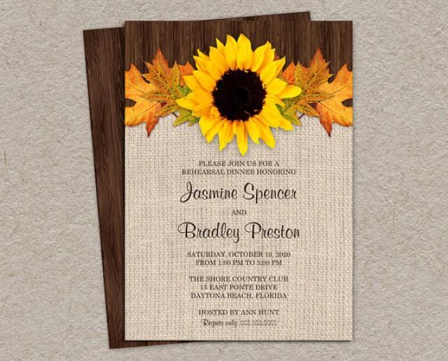 rustic fall rehearsal dinner invitations  diy printable