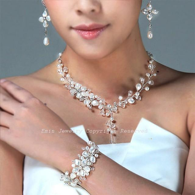 Swarovski Pearl Bridal Jewelry Set