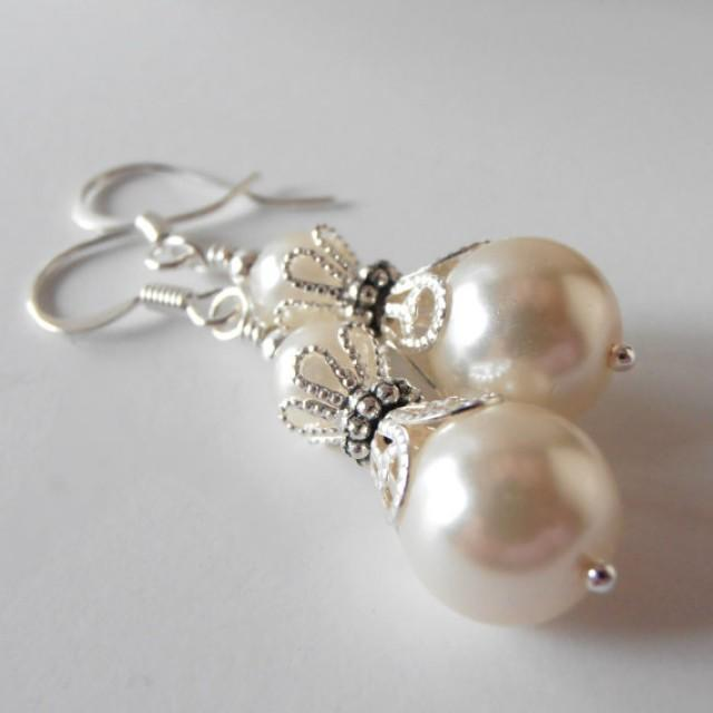 Ivory Pearl Bridal Jewelry Bridesmaid Earrings Ivory Bridesmaid Jewelry Sets Bridesmaid Gift