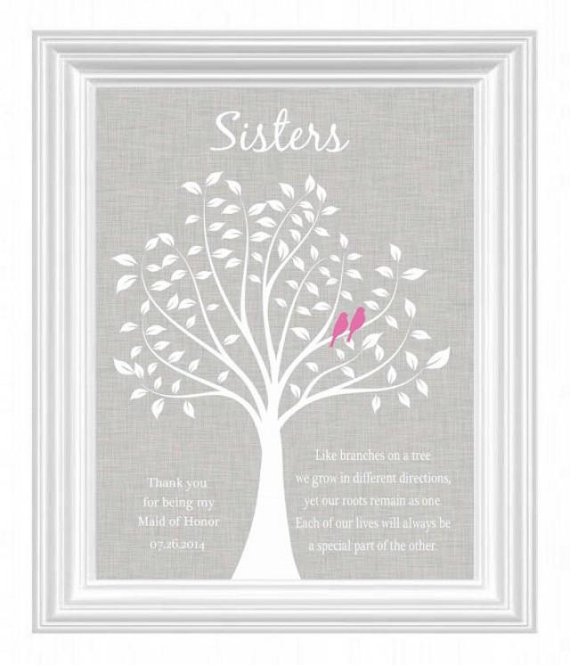 Wedding Gift To Sister : sisters-personalized-gift-maid-of-honor-gift-wedding-gift-for-sister ...