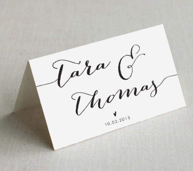 Printable wedding place cards custom wedding name cards for Place card for wedding
