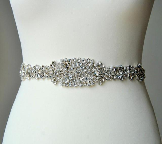 Luxury crystal bridal sash wedding dress sash belt for Rhinestone sashes for wedding dresses