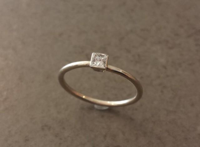 simple diamond engagement ring princess cut diamond