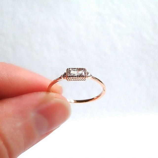 rose gold filled stacking ring small diamond engagement. Black Bedroom Furniture Sets. Home Design Ideas