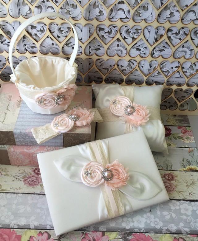 wedding flower girl basket ring bearer pillow wedding guest book and keepsake wedding garter. Black Bedroom Furniture Sets. Home Design Ideas