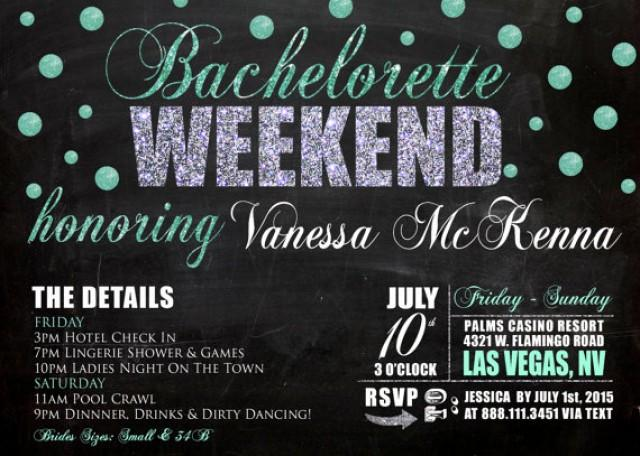 Bachelorette Party Weekend Invitation Detailed Weekend Getaway – Bachelorette Party Weekend Invitations