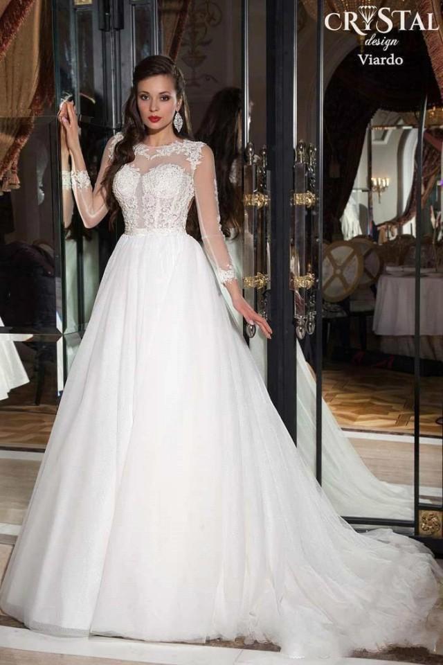 2015 vestidos de noiva appliques lace wedding dresses for Vintage wedding dresses online shop