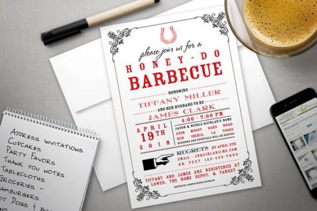 printed invitation - barbecue shower invite for couples or baby q, Baby shower invitations