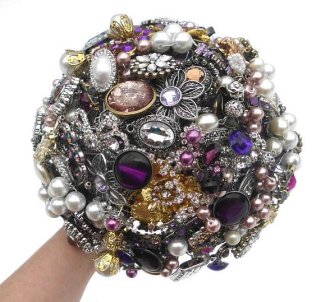 Brooch Bouquet Wedding Broche Bouquet Custom Colors Rhinestone Jewelry Alternative