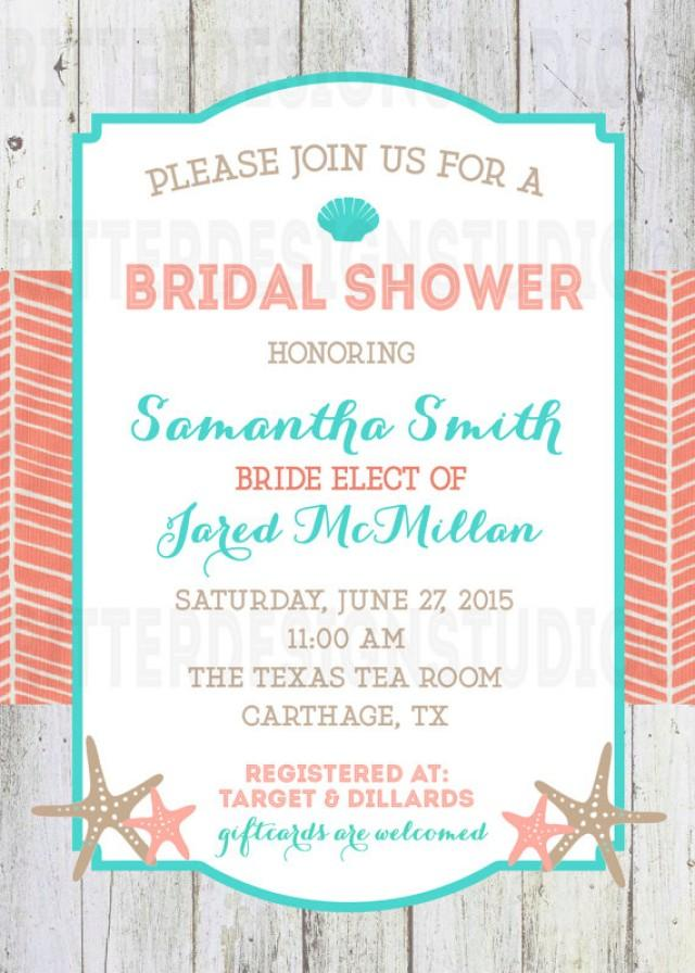 Beach Nautical Bridal Shower Invitation
