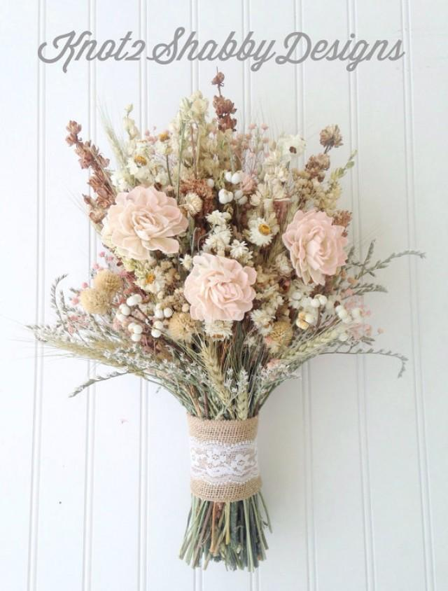 sola flower wildflower dried flower bouquet wedding
