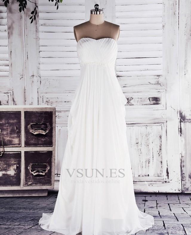 wedding photo - Vestido de novia Blusa plisada Recatada Diosa vestido de novia Otoño