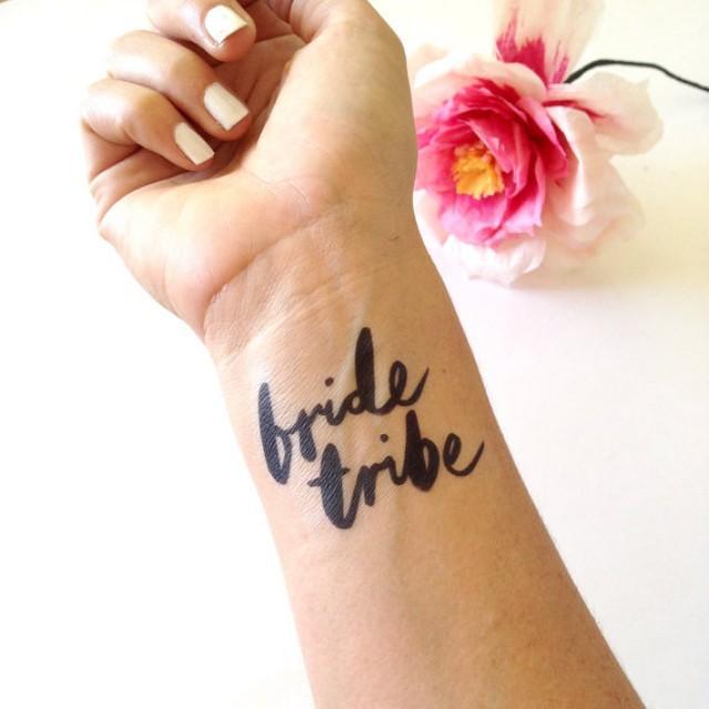 Bachelorette tattoo bridal shower tattoo wedding tattoo for Bachelorette party tattoos