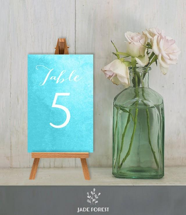 Wedding Reception Table Number Diy Calligraphy On
