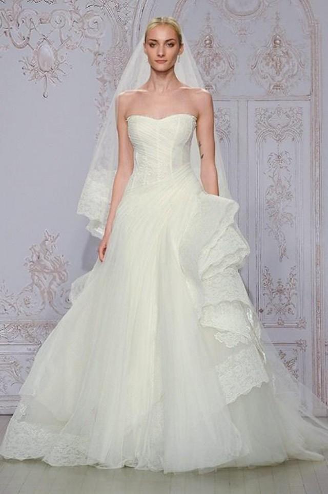 2015 new designer a line wedding dresses monique lhuillier for Designer ball gown wedding dresses