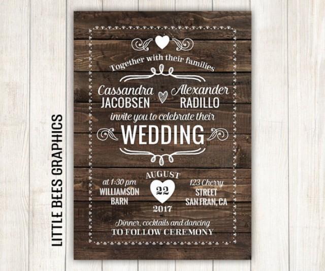 Légend image in free printable rustic wedding invitations