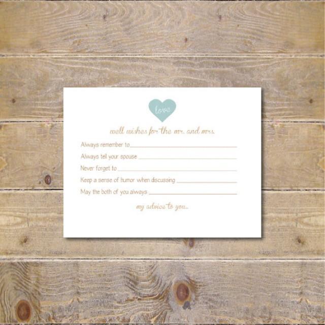 Printable Advice Cards, Bridal Shower Advice Cards, Bridal