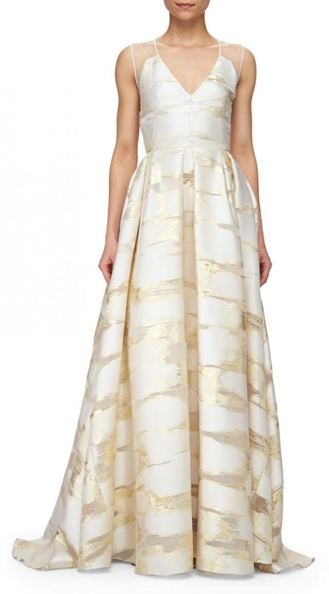 c336d832b9 wedding photo - Lela Rose Sheer-Back Metallic Space-Dyed Gown