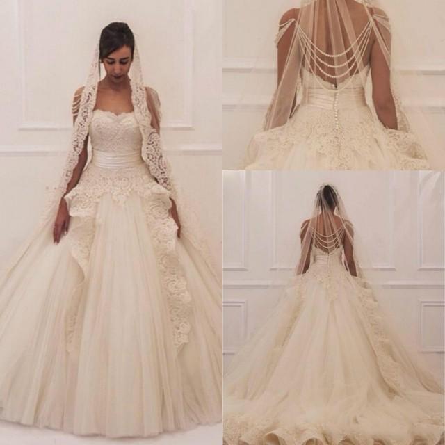 Maison yeya 2015 wedding dresses luxury ball gown for Luxury ball gown wedding dresses