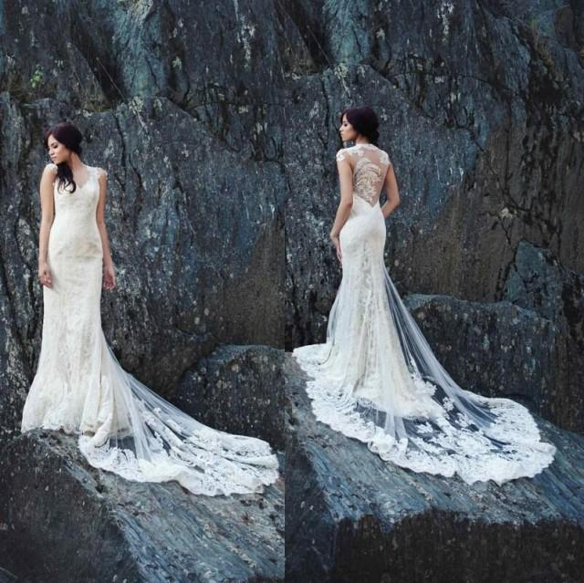 2015 new arrival sheer backless sheath wedding dresses for Backless wedding dresses online