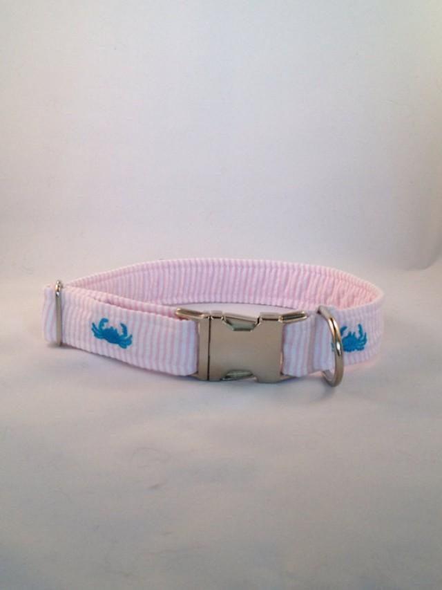 Pink Crab Dog Collar
