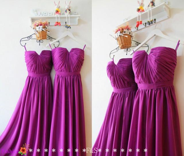 Purple bridesmaid dress long chiffon bridesmaid dress for Long wedding dresses under 100