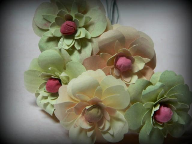 Cake Decoration With Paper : Field Of Flowers -Pastel Hand Cut Paper Flowers - Use For ...