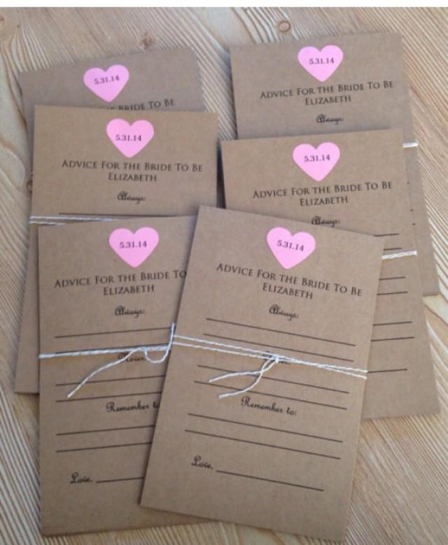 advice for the bride to be cards bridal shower lingerie party wedding