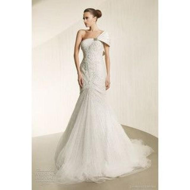 One Shoulder Strap Wedding Dress Inspiration 2314261 Weddbook