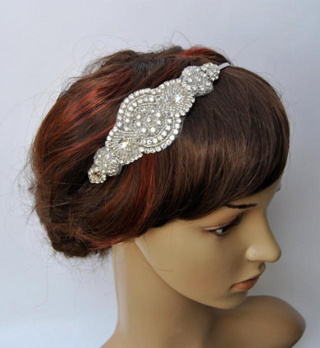 Wedding Headband Headpiece, Fascinator, Wedding Hair Accessory, Ribbon