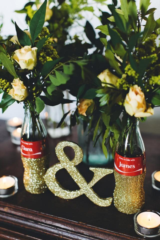 Diy share a coke bottle centerpieces huge giveaway