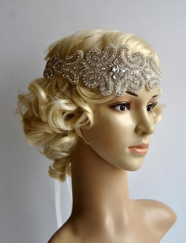 Crystal Rhinestone Flapper Gatsby Headband, Wedding Bridal ...