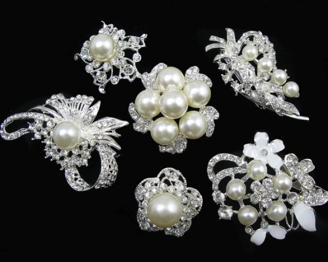 6Pcs Crystal Rhinestone Bridal Wedding Hair Pins Clips Hair Accessories Hairdressing Tool