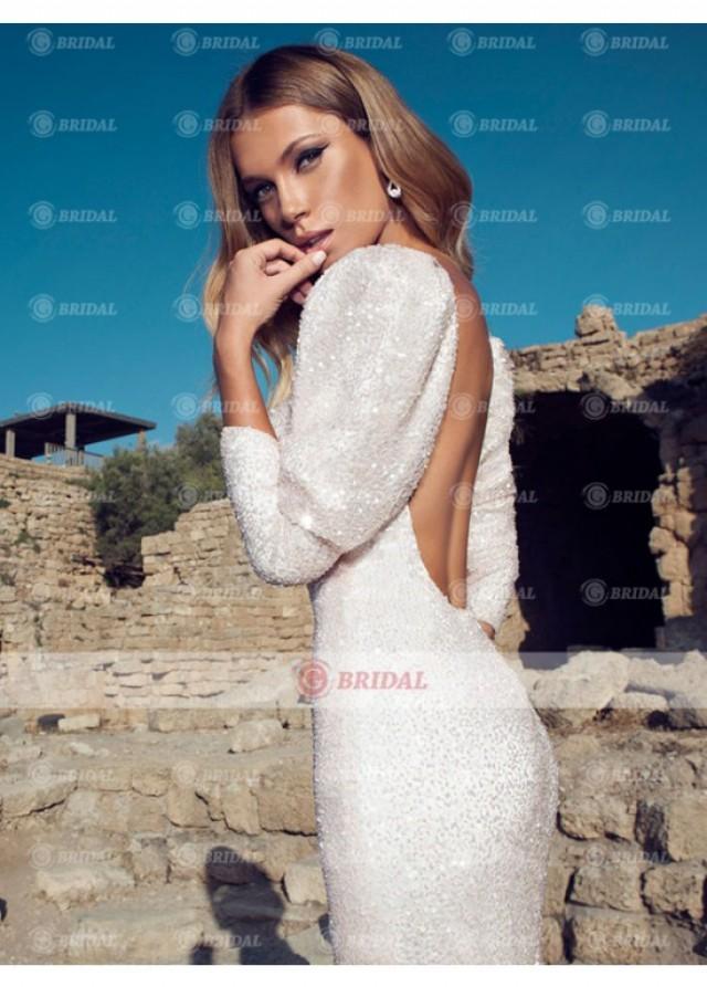 wedding photo - 2015 New Fabric Handmade Sweetheart High Slits Wedding Dress