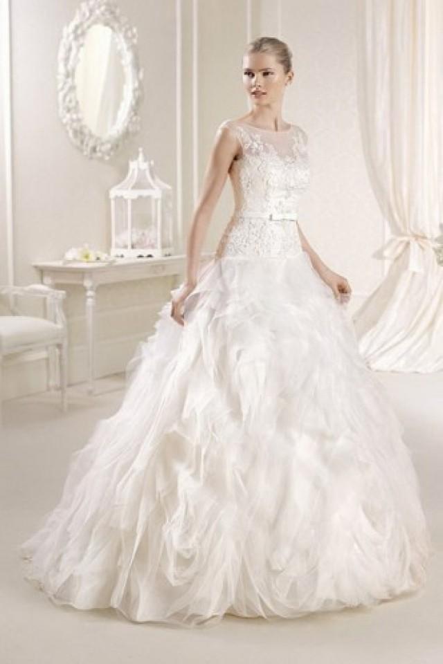 wedding photo - Amazing Ivory Organza Lace Sleeveless Scoop Bridal Wedding Dress
