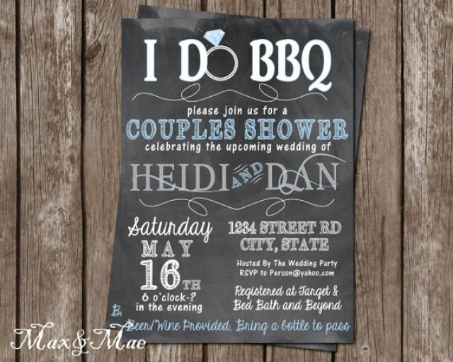 Wedding Shower Invitations For Couples: I Do BBQ Invitation, Wedding Shower Invitation, Couples