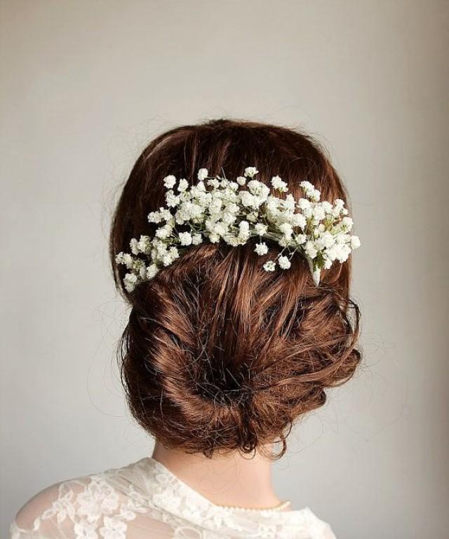 Baby S Breath Hair Vine Rustic Hair Piece Bridal Hair