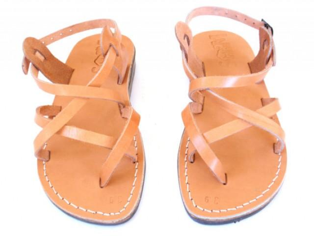 ea7029ab82e194 New Leather Sandals GLADIATOR Men  39 s Shoes Thongs Flip Flops Flats