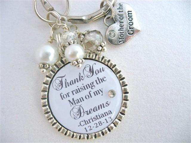 Mother Of The Groom Gift: MOTHER Of The GROOM Gift PERSONALIZED Keychain Silver